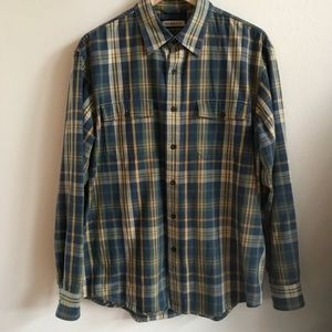 G.H. Bass Plaid Relaxed Fit Long Sleeve Shirt MED